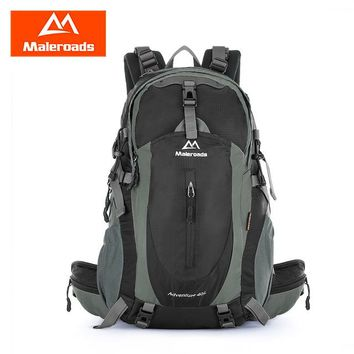 Sports gym bag Maleroads 40L Outdoor Sports Camping Bag Hiking Backpack Nylon Water Resistant Travel Rucksack 3 Colors KO_5_1