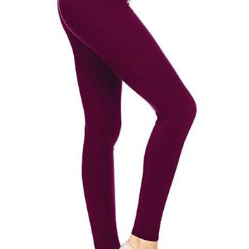 Tall and Curvy Brushed Burgandy Leggings