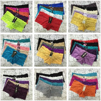 Sexy Women Panties Transparent Lace Boxers Lady Seamless Undies Briefs Boyshorts Multicolor