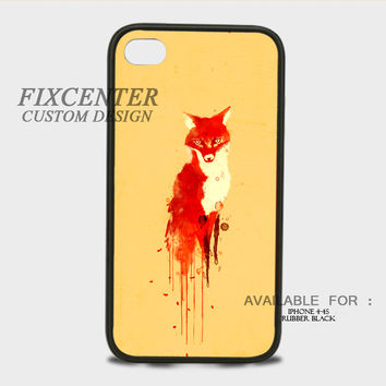 The yellow fox Rubber Cases for iPhone 4,4S, iPhone 5,5S, iPhone 5C, iPhone 6, iPhone 6 Plus, Samsung Galaxy S3, Samsung Galaxy S4, Samsung Galaxy S5  phone case design