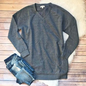 Gray Sweatshirt Tunic