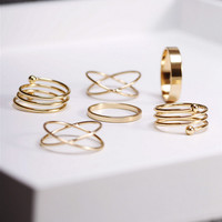 Tamia 6 Piece Ring Set