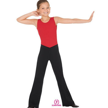 "Eurotard 46757C Low Rise ""V"" Front Jazz Pants - Child"