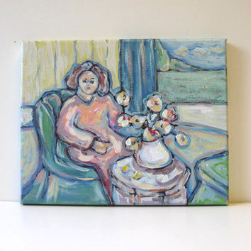 Acrylic Figure Painting on Canvas Still life Landscape