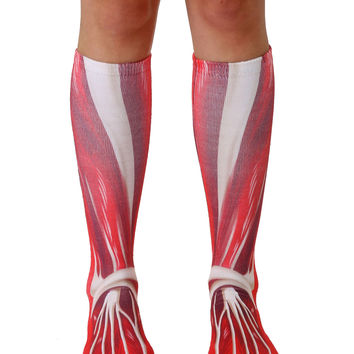Muscle Knee High Socks