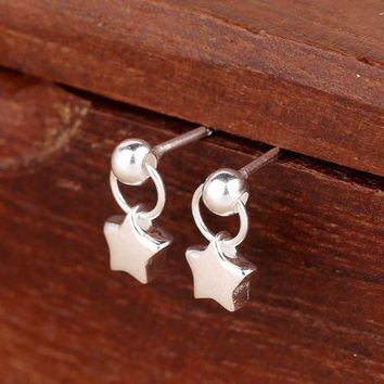 Trusta 2017 New Hot Sell 100% 925 Sterling Silver Jewelry Tiny Star Stud Earrings Xmas Girls Gift Ds116 Freeshipping