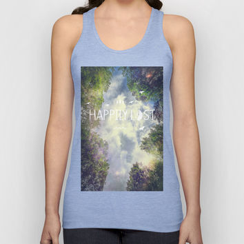 Happily Lost II Unisex Tank Top by HappyMelvin
