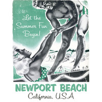 Personalized Newport Beach Wood Sign