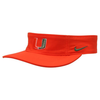 Miami Hurricanes Nike Performance Training Visor – Orange