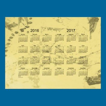 Old Yellow Paint 2 Year 2016-2017 Wall Calendar Posters from Zazzle.com