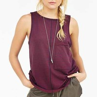 Truly Madly Deeply Oversized Pocket Tank Top - Urban Outfitters