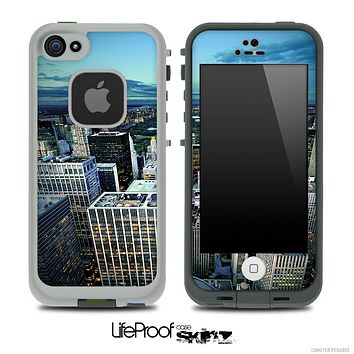 Top City Skyline Skin for the iPhone 5 or 4/4s LifeProof Case