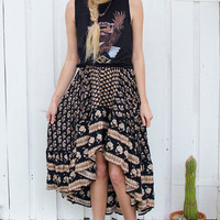 Bohemian Royale Maxi Skirt - Charcoal