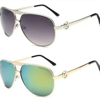 MK Cat Eye Aviator Sunglasses Women Vintage Fashion Metal Frame Mirror Sun Glasses Unique Flat Ladies Sunglasses&Christmas Gift