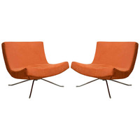 Pair of Vintage Swivel Lounge Chairs by Christian Werner for Ligne Roset