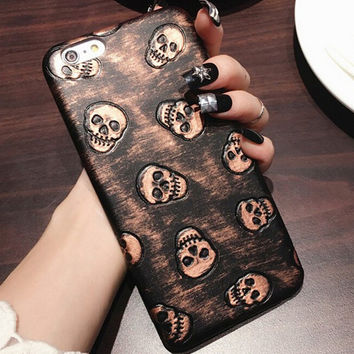 Punk Style Skull iPhone 6 6s Case Cover