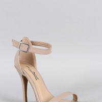 Anne Michelle Patent Open Toe Heel