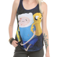 Adventure Time Finn & Jake Sublimation Girls Tank Top