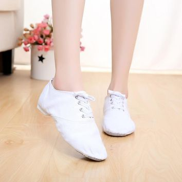 Brand Designer Canvas Jazz Shoes Ballet Dance Shoes Split Heel Sole Shoe indoor dance jazz shoes Men Women Boys Girl ballet 4012