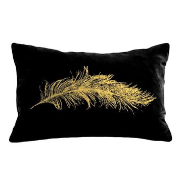 Feather Velvet Accent Pillow