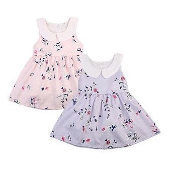 Summer Toddler Baby Girl Dress Sleeveless Party Wedding Floral Princess Dresses