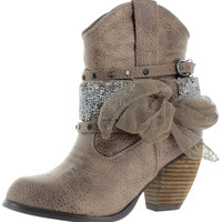 Not Rated Women's Legacy Western Ankle Booties Boots