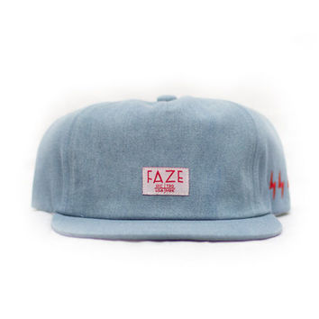 Fearless Denim Snapback Hat in light blue denim