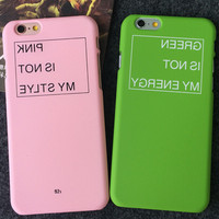 PINK BLUE GREEN iPhone 5s 5se 6 6s Plus Case Best Solid Cover + Gift Box 410