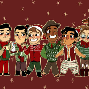 disney princes christmas Art Print by Little People