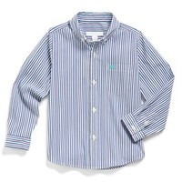 Boy's Burberry 'Explode' Stripe Woven Sport Shirt