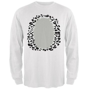 DCCKJY1 Halloween Snow Leopard Costume Mens Long Sleeve T Shirt