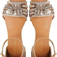 New Look Grecian Gold Leather Flat Sandals