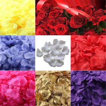 lovely pet 200pcs Silk Rose Petals Artificial Flower Wedding Favor Bridal Shower Aisle Vase Decor Confetti sep930