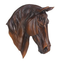 Chestnut Horse Bust Wall Decor