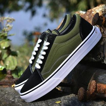 Vans New Pattern Canvas Old Skool Flats Shoes Sneakers Sport Shoes