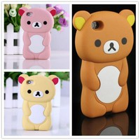 Case For iPhone 5S Case 3D Rilakkuma Cute Brown Silicone Bear Cover For iPhone SE 5 5S Case Phone Cases Capa for iPhone5S