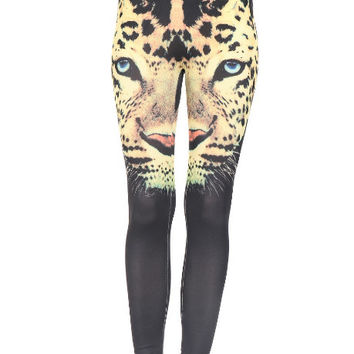 Leopard Head Leggings Digital Print Tight Yoga Leggings Animal Print