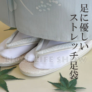 women Japanese Tabi Socks Kimono Geta Clog Flip Flop White Split Toe Cosplay