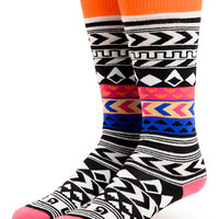 Burton Party Black & White Stripe Snowboard Socks