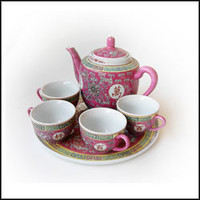 Oriental Red Pattern Tea Set | Oriental Cookware | Shop Online