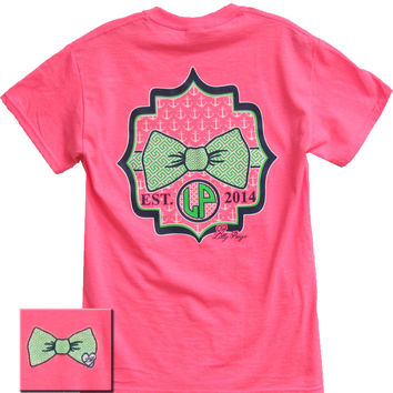 Bjaxx Lilly Paige Preppy Pattern Bow Anchor Heart Pink Girlie Bright T Shirt