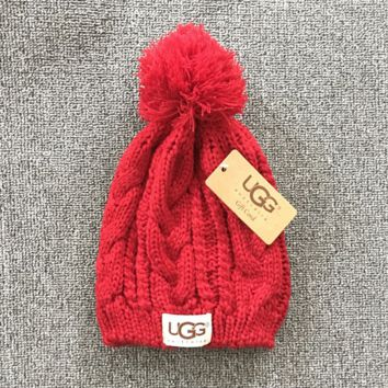 Red Winter Trendy Warm Soft Knit Hat