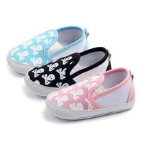 Cute Newborn Baby Canvas Skull Unisex Shoes Slipper for 0-18months