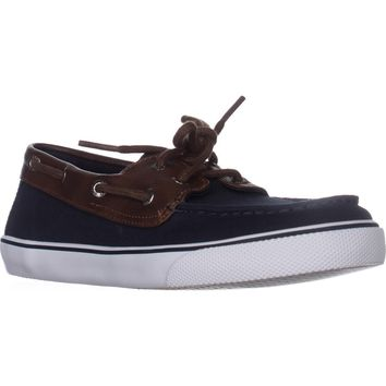 Sperry Top-Sider Bahama Boys Boat Shoes, Navy/Brown, 3 US