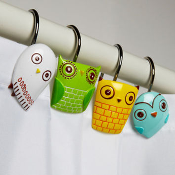 ModCloth Owls Owl Clean Shower Curtain Rings
