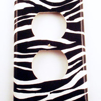 Switch Plate Outlet Light Switch Cover in Zebra (086O)