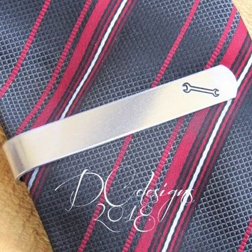 Tools, Wrench, Tie Bar, Tie Clip, Personalised Gift, Groomsmen Gift, Best Man Gift, Father of the Bride, Husband Gift, Custom Tie Bar