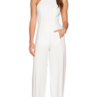 Black Halo Joaquin Jumpsuit in Ivory