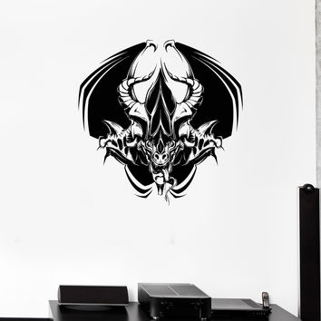 Wall Decal Daemon Devil Monster Beast Horror Death Darkness Vinyl Sticker Unique Gift (ed682)