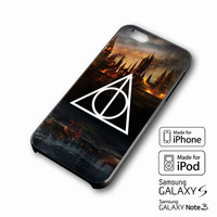 Harry Potter Deathly Hallows iPhone case 4/4s, 5S, 5C, 6, 6 +, Samsung Galaxy case S3, S4, S5, Galaxy Note Case 2,3,4, iPod Touch case 4th, 5th, HTC One Case M7/M8